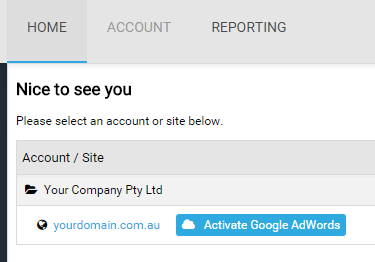 Activate Google AdWords