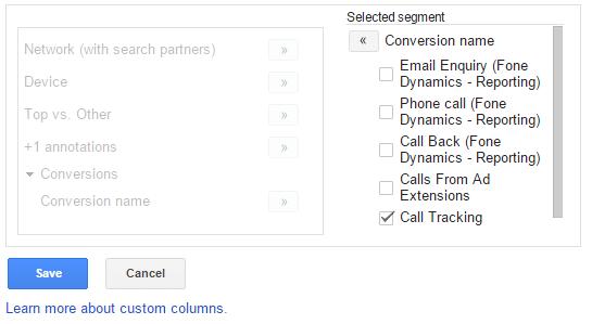 Select Segment Name