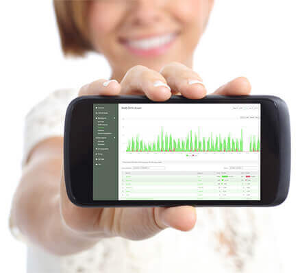 Call Tracking Drill Down Report on Mobile Phone