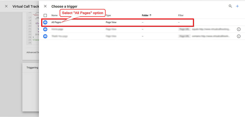 Call Tracking Script Google Tag Manager Screen Shot - Step 6
