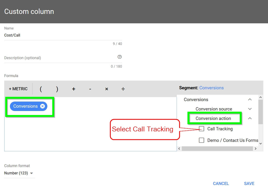 Adwords Call Cost Tracking