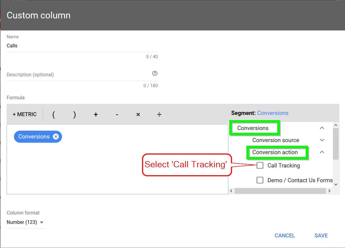 Adwords Call Tracking