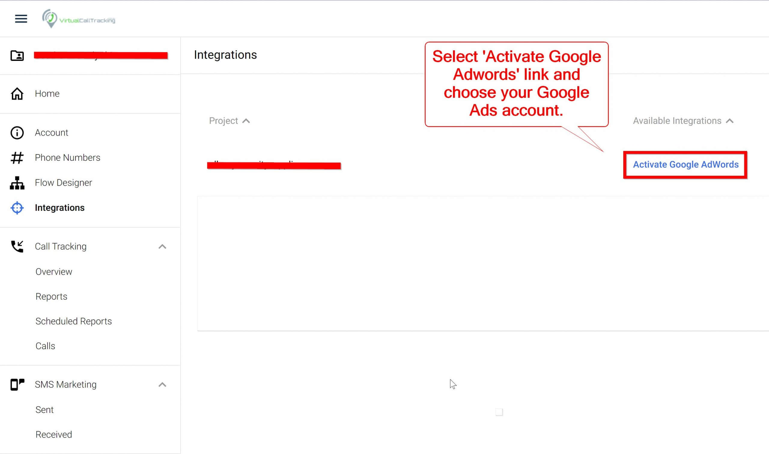Call Tracking Google Ads Link
